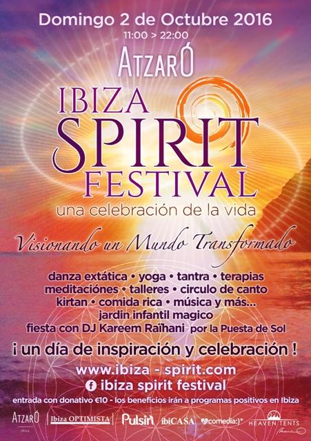 Ibiza Spirit  Festival Domingo 2 octubre en Atzaró  a beneficio de Apneef