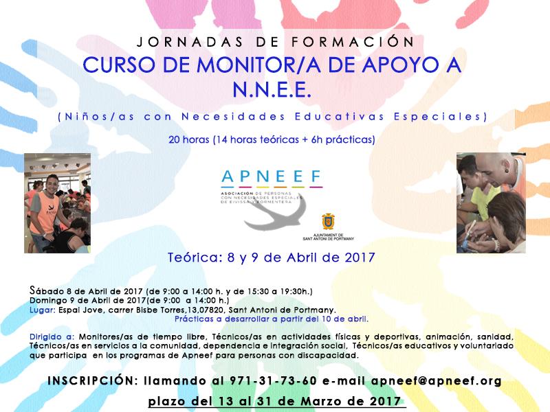 CURSO DE MONITOR/A DE APOYO A NIÑOS Y NIÑAS CON NECESIDADES EDUCATIVAS ESPECIALES (N.N.E.E)