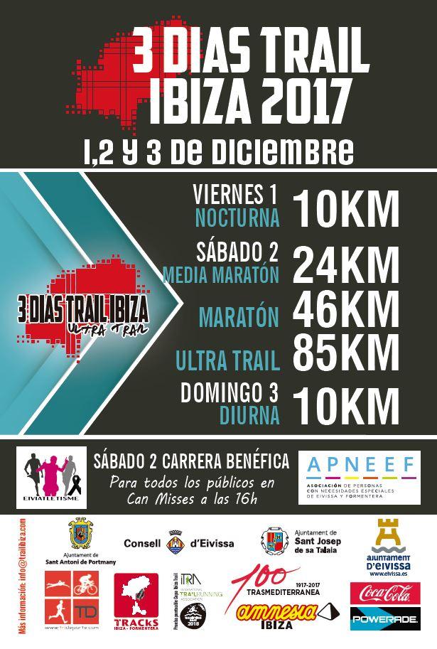 Nueva edición del 3 Días Trail Ibiza a beneficio de APNEEF