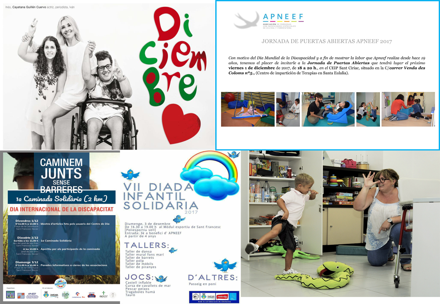 Eventos con motivo del día de la discapacidad