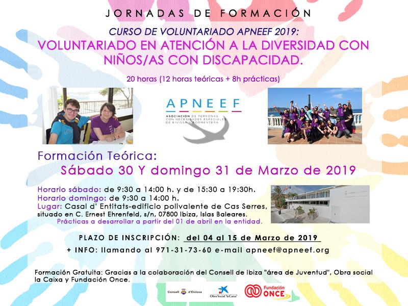 Curso de voluntariado: Voluntariado en atención a la diversidad con niños/as con discapacidad