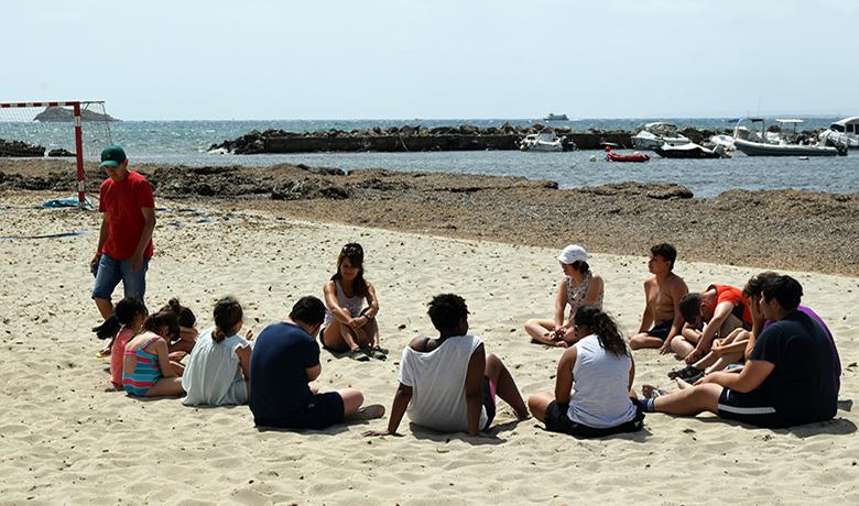 Actividades de ocio en la playa - julio 2019
